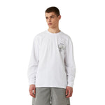 MC COIN GRAPHIC LONG SLEEVE TEE - WHITE