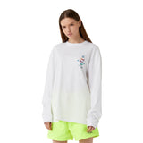 MC EMBLEM GRAPHIC LONG SLEEVE TEE - WHITE
