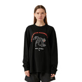 MC GRAPHIC LONG SLEEVE TEE - BLACK