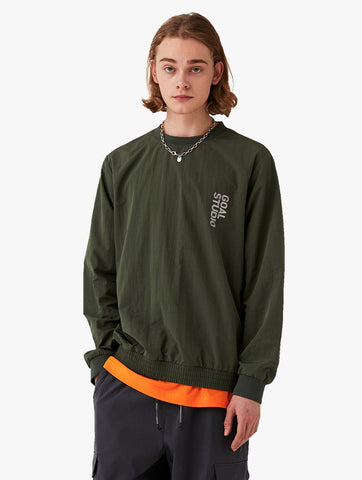 NYLON BLEND WOVEN SWEATSHIRT (2 Colors)