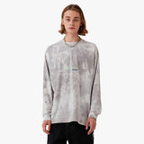 TIE DYE LONG SLEEVE TEE (2 Colors GREY, BEIGE)