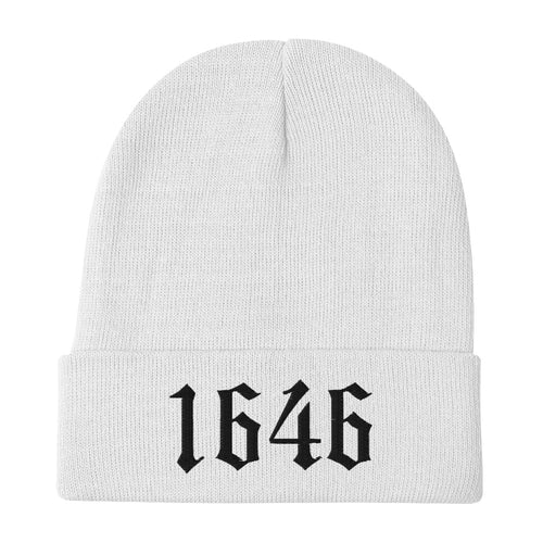 1646 Westminster Confession of Faith Date Embroidered Beanie