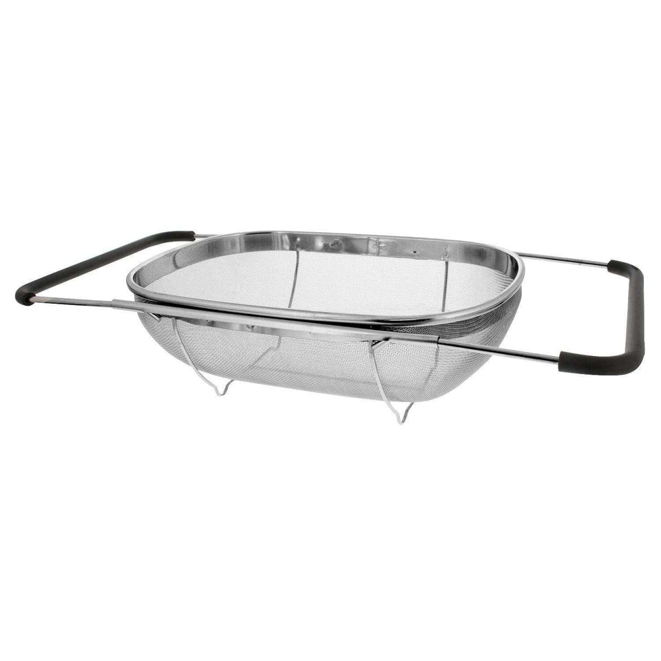 Premium Stainless Steel Oval Strainer Basket W Expandable