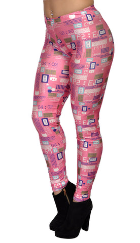 70s Pink Throwback Leggings Design 255