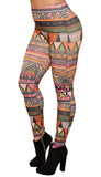 Colorful Aztec Leggings Design 564