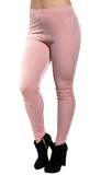 Light Pink Velvet Leggings Design 62