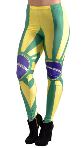Brazilian Flag Leggings Design 258