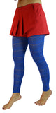 Blue Sheer Knit Leggings Design 55