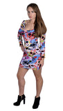 Day of the Dead Bodycon Dress Design 3054