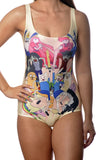 Adventure Time Yellow One-Piece Women's Swimsuit Design 5013