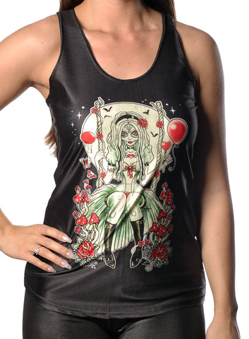 Zombie Girl Black Tank Top Design 13057