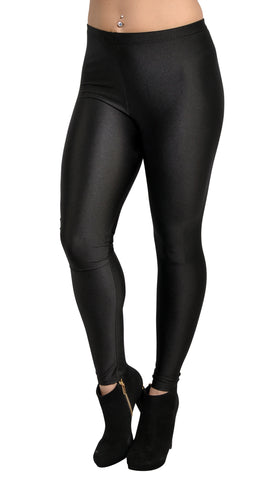 Black Shiny Candy Leggings Design 235