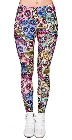 Sugar Skulls Leggings Design 589