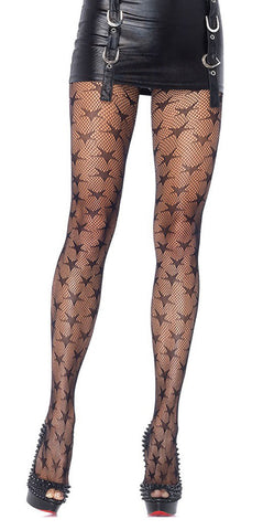 Black Stars Pantyhose Design 4007