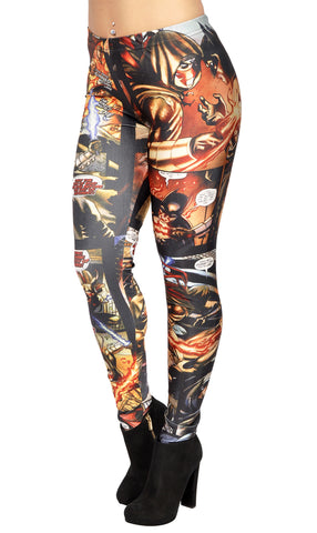 Batman Cartoon Leggings Design 17