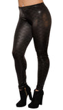 Black on Black Mermaid Leggings Design 567