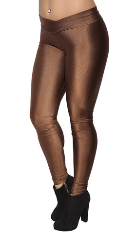 Brown V-waist Leggings Design 311
