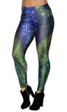 Fractal Print Leggings Design 617