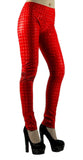 Red Holographic Leggings Design 98 Size XS