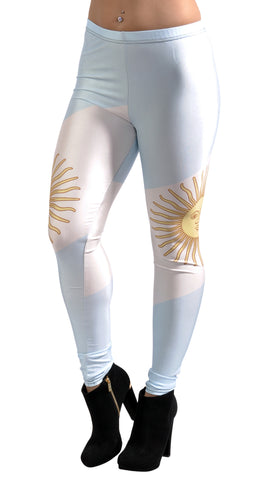 Argentina Flag Leggings Design 286