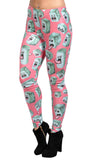 Pink Monsters Leggings Design 577