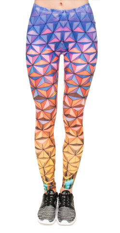 3D Triangles Leggings Design 599