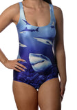 Lots of Sharks One-Piece Swimsuit Design 5018