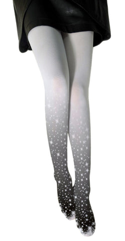 Black and Gray Gradient Galaxy Stockings Design 9005