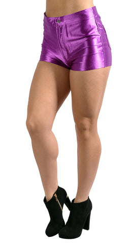 Purple Disco Shorts Design 8004