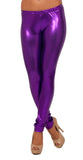 Purple Wet Look Leggings Design 163