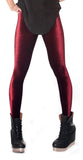 Wine Red Velvet Leggings Design 61