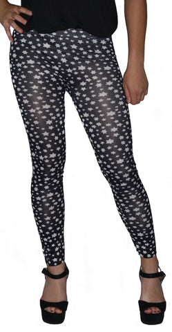 a5316444296ee Women's Black With White Six Point Stars Leggings Design 387 – BadAss  Leggings