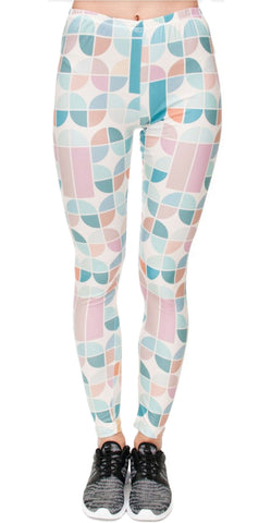 Pastel Retro Leggings Design 597