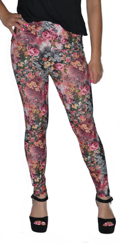 Soft Floral Leggings Design 403