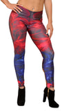 Black with Colorful Flowers Leggings Design 620