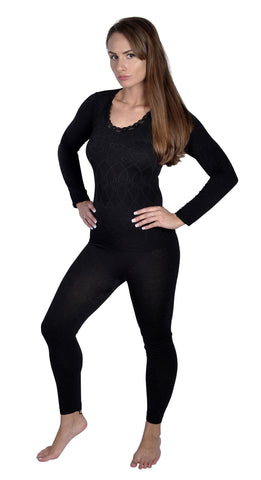 Women's Heart Theme Black Pajamas Design 16001