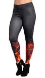 Black with Flames Leggings Design 548