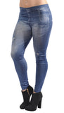 Faux Faded Denim Jeans Design 87