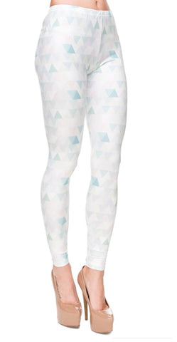 Pastel Triangles Leggings Design 596