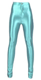 Light Blue Shiny Disco Pants Design 628