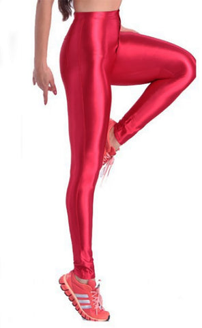Red Shiny Disco Pants Design 668