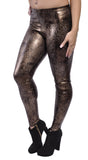 Faux Leather High Waist Cheetah Leggings Design 442