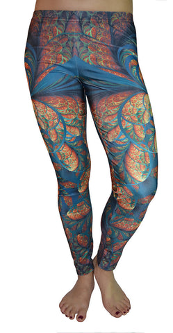Fractal Print Leggings Design 519
