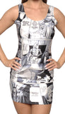 Star Wars Sleeveless Mini Dress Design 3014