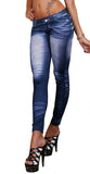 Faux Worn Denim Leggings Design 141