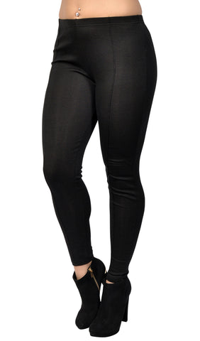 Black Middle Line Leggings Design 46