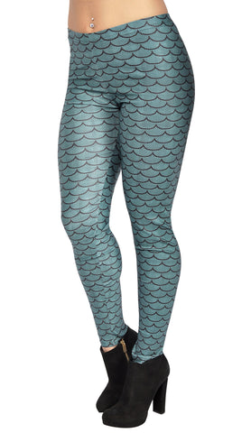 Teal Mermaid Leggings Design 81
