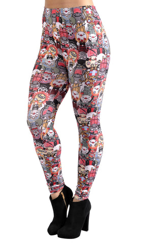 Cartoon Vampire Leggings Design 39