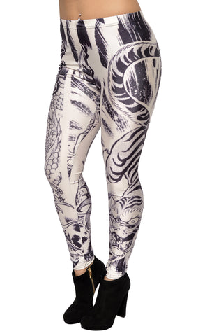 Yakuza Leggings Design 445
