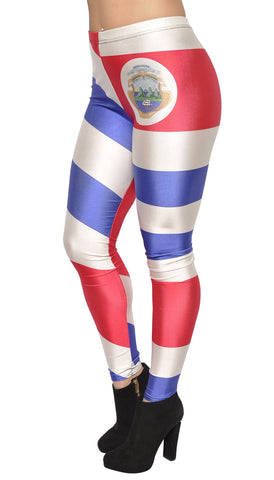 Costa Rican Flag Leggings Design 485
